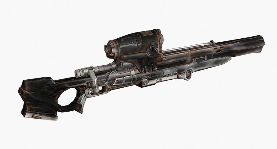Sci-fi sniper type 1 royalty-free 3d model - Preview no. 4