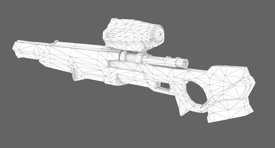 Sci-fi sniper type 1 royalty-free 3d model - Preview no. 8