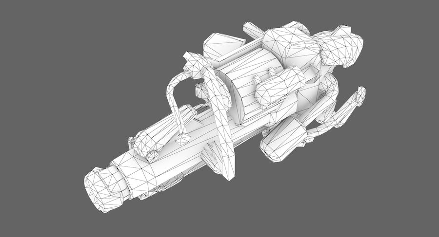Sci-fi weapon type 3 royalty-free 3d model - Preview no. 9