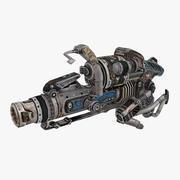 Sci-fi weapon type 3 3d model