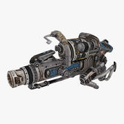Tipo di arma di fantascienza 3 3d model