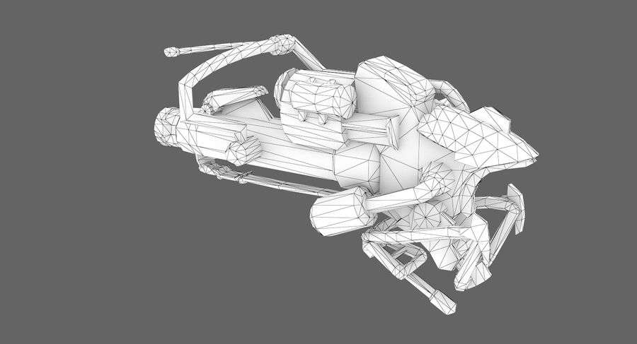 Sci-fi weapon type 3 royalty-free 3d model - Preview no. 8