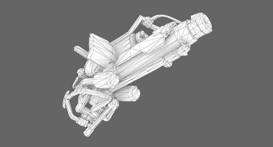 Sci-fi weapon type 3 royalty-free 3d model - Preview no. 11