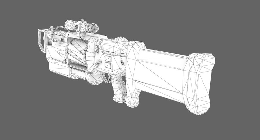 Sci-fi weapon type 4 royalty-free 3d model - Preview no. 8
