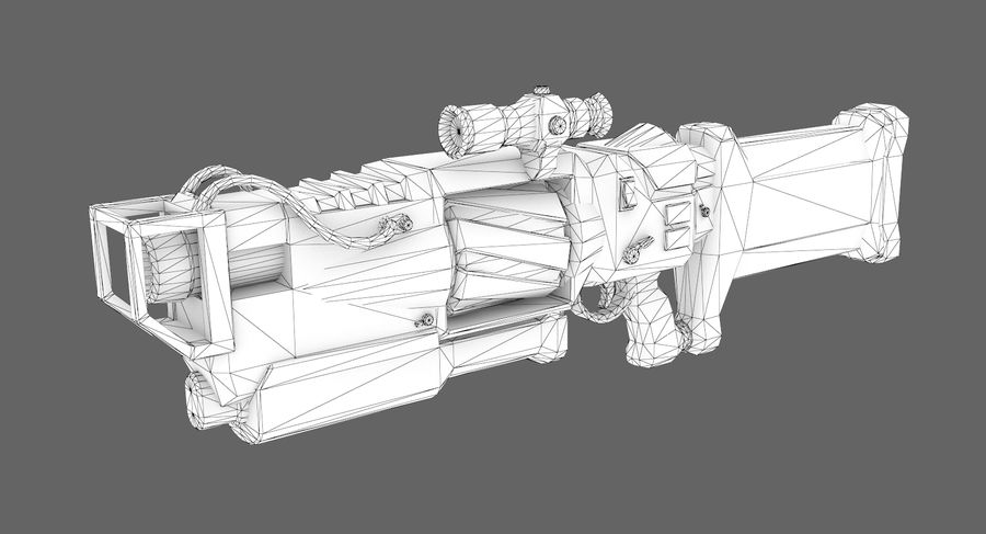Sci-fi weapon type 4 royalty-free 3d model - Preview no. 7
