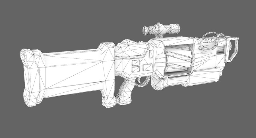 Sci-fi weapon type 4 royalty-free 3d model - Preview no. 10