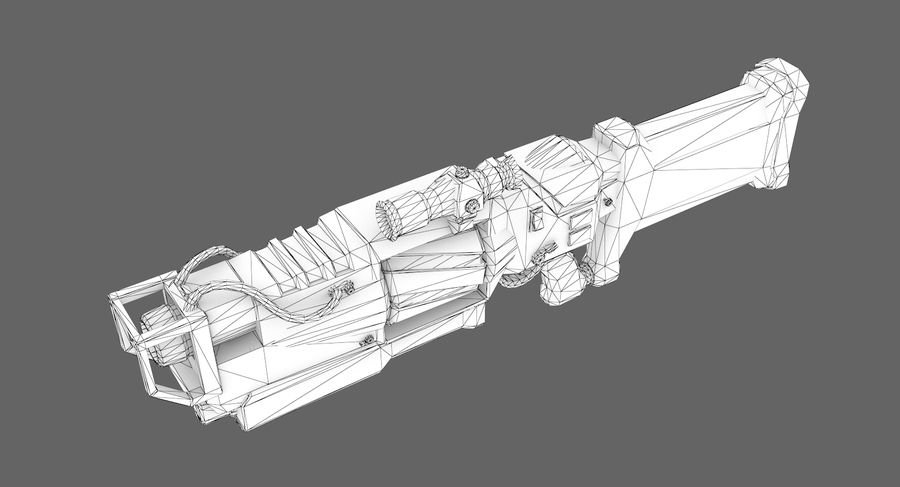 Sci-fi weapon type 4 royalty-free 3d model - Preview no. 9