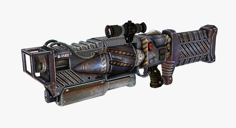 Sci-fi weapon type 4 royalty-free 3d model - Preview no. 2