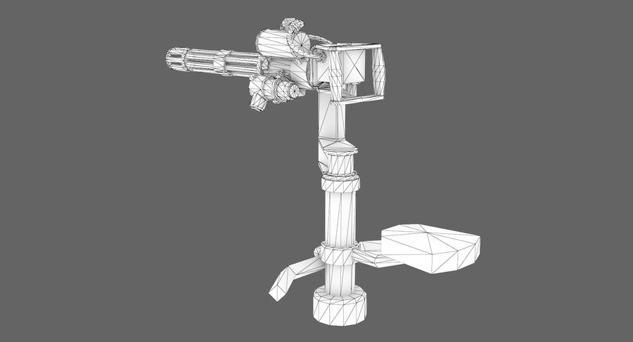 Sci-fi weapon type 5 royalty-free 3d model - Preview no. 9