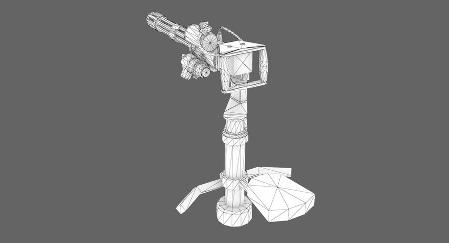 Sci-fi weapon type 5 royalty-free 3d model - Preview no. 10