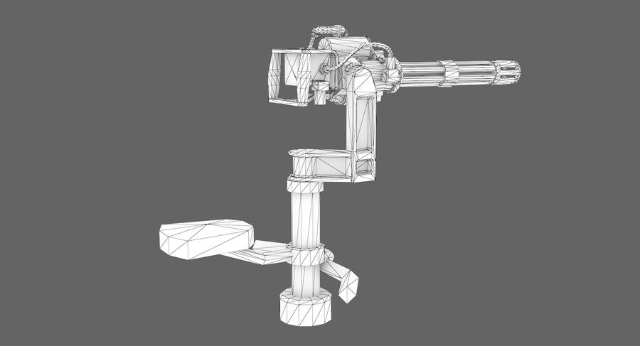 Sci-fi weapon type 5 royalty-free 3d model - Preview no. 12