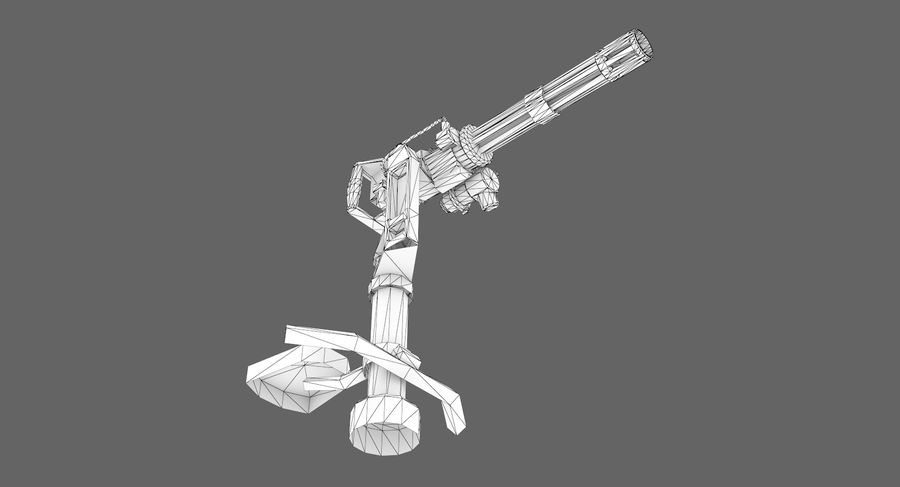 Sci-fi weapon type 5 royalty-free 3d model - Preview no. 13