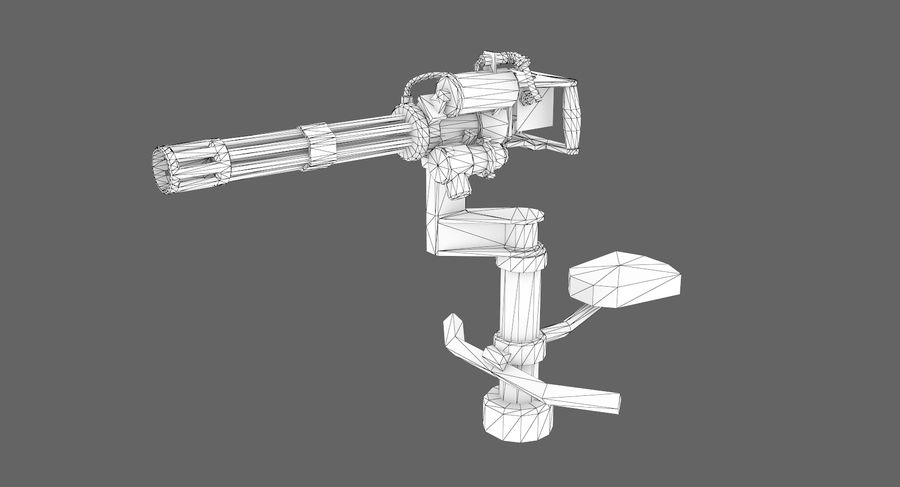 Sci-fi weapon type 5 royalty-free 3d model - Preview no. 8