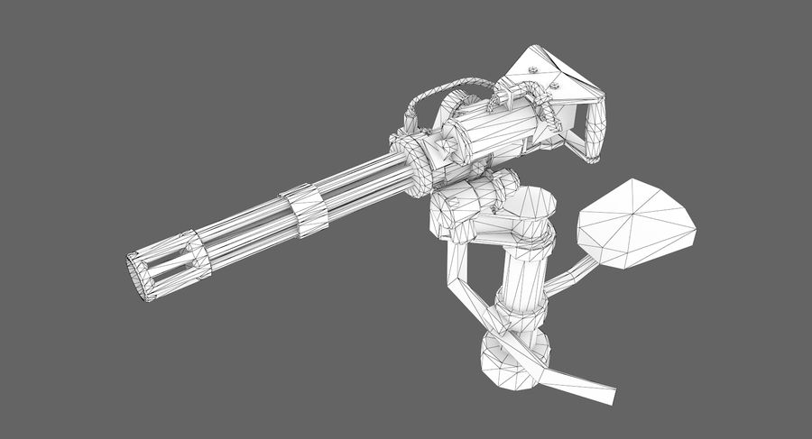 Sci-fi weapon type 5 royalty-free 3d model - Preview no. 11