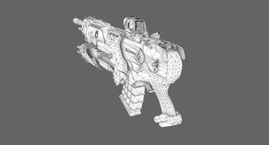 Sci-fi weapon type 6 royalty-free 3d model - Preview no. 8