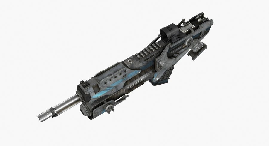 Sci-fi weapon type 6 royalty-free 3d model - Preview no. 6
