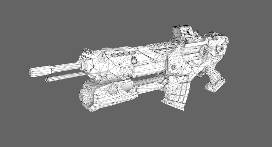 Sci-fi weapon type 6 royalty-free 3d model - Preview no. 7