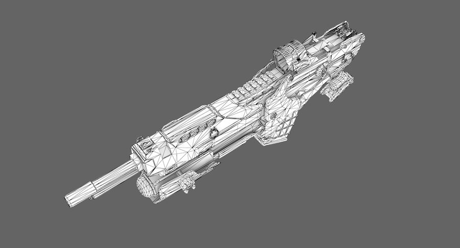Sci-fi weapon type 6 royalty-free 3d model - Preview no. 11