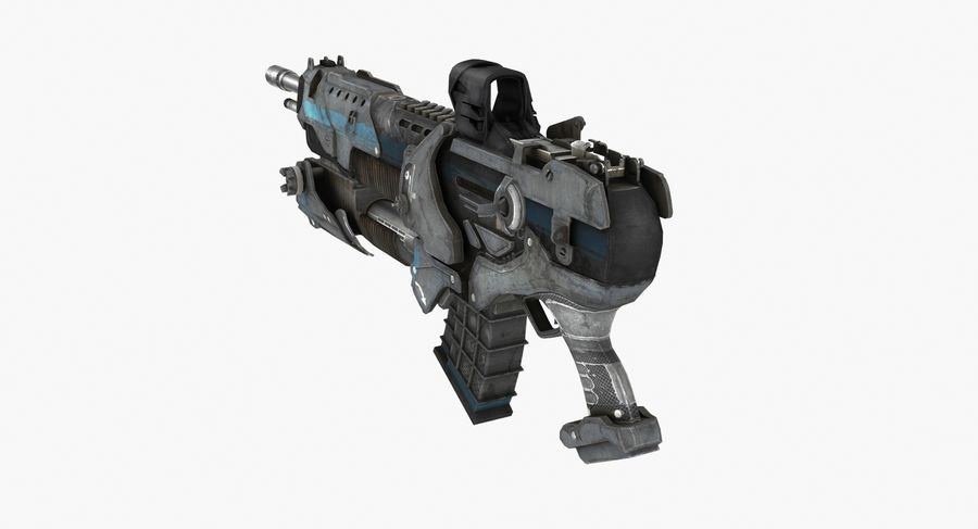 Sci-fi weapon type 6 royalty-free 3d model - Preview no. 3