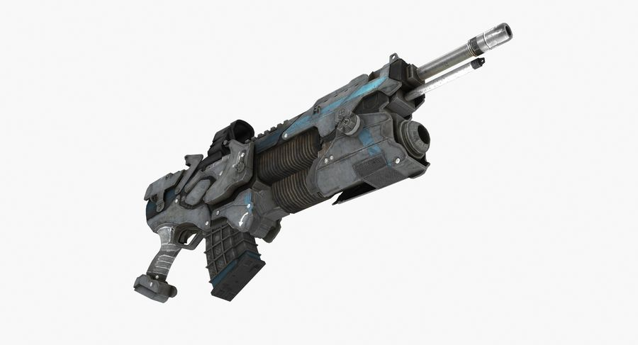 Sci-fi weapon type 6 royalty-free 3d model - Preview no. 5