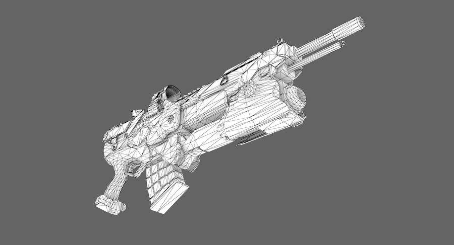 Sci-fi weapon type 6 royalty-free 3d model - Preview no. 10