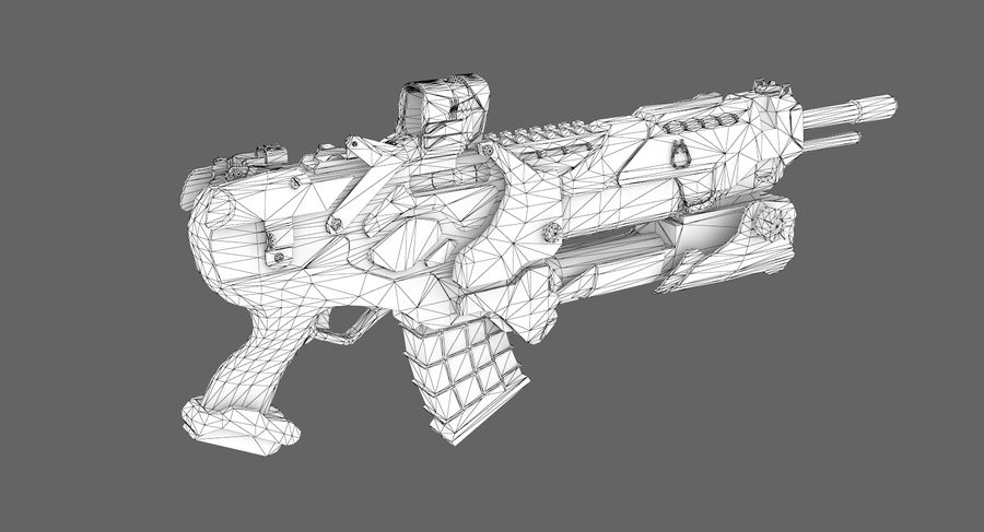 Sci-fi weapon type 6 royalty-free 3d model - Preview no. 9