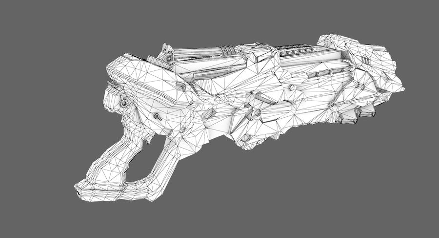 Sci-fi weapon type 7 royalty-free 3d model - Preview no. 9