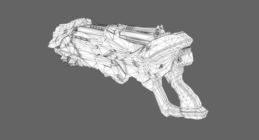 Sci-fi weapon type 7 royalty-free 3d model - Preview no. 8