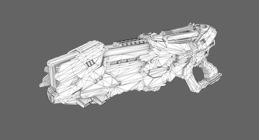 Sci-fi weapon type 7 royalty-free 3d model - Preview no. 7