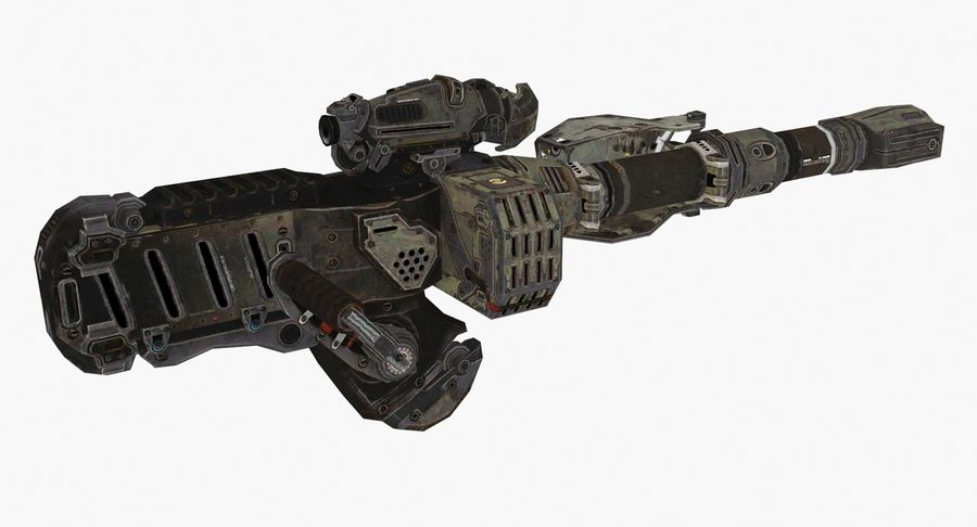 Sci-fi weapon type 8 royalty-free 3d model - Preview no. 4