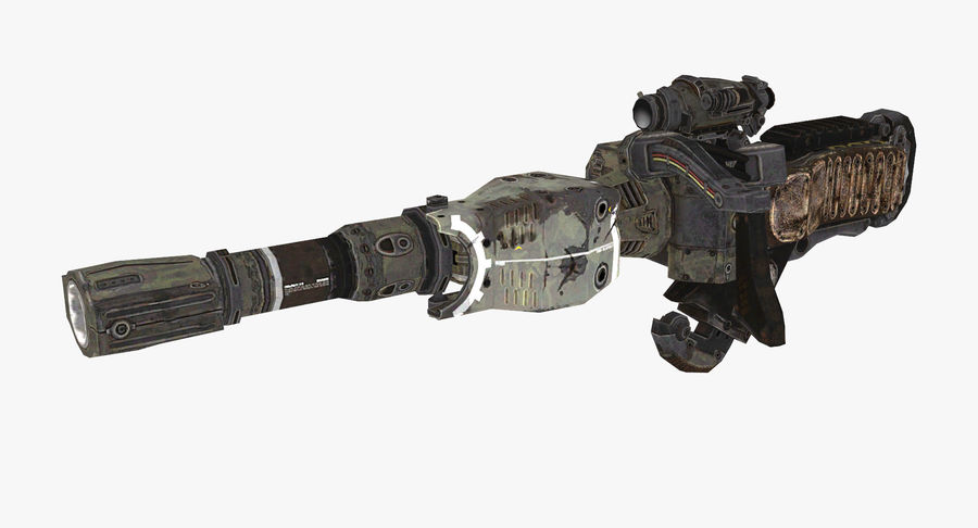 Sci-fi weapon type 8 royalty-free 3d model - Preview no. 2