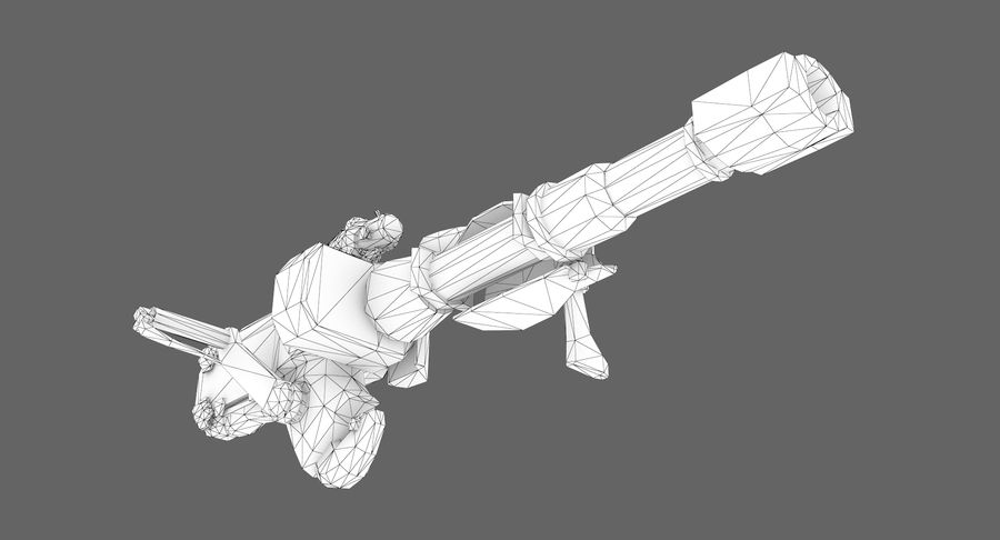 Sci-fi weapon type 8 royalty-free 3d model - Preview no. 10