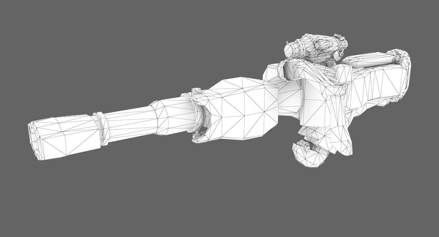 Sci-fi weapon type 8 royalty-free 3d model - Preview no. 7