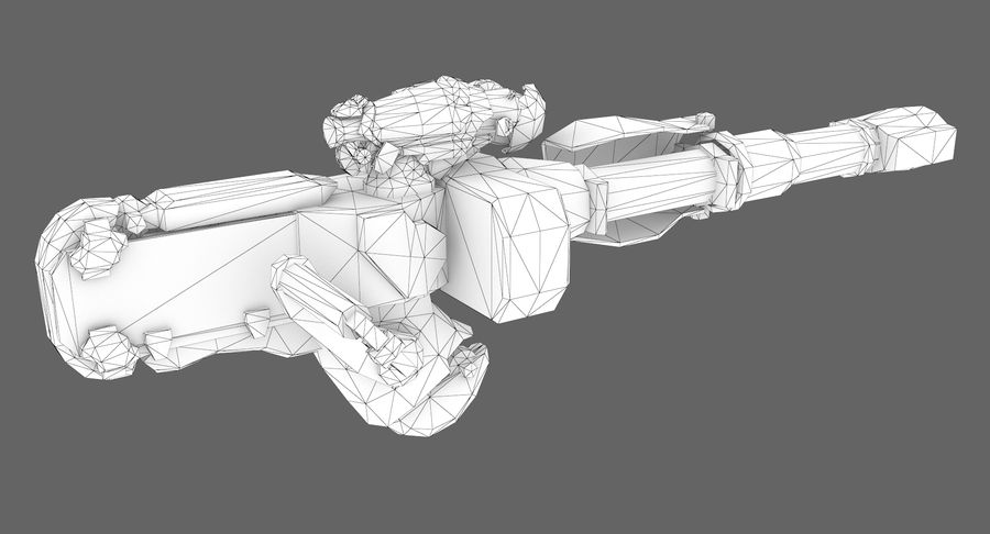 Sci-fi weapon type 8 royalty-free 3d model - Preview no. 9