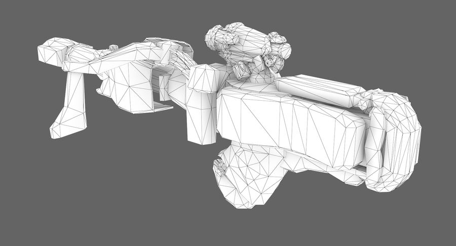Sci-fi weapon type 8 royalty-free 3d model - Preview no. 8