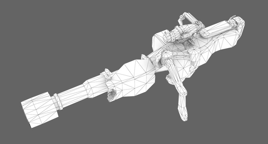 Sci-fi weapon type 8 royalty-free 3d model - Preview no. 11