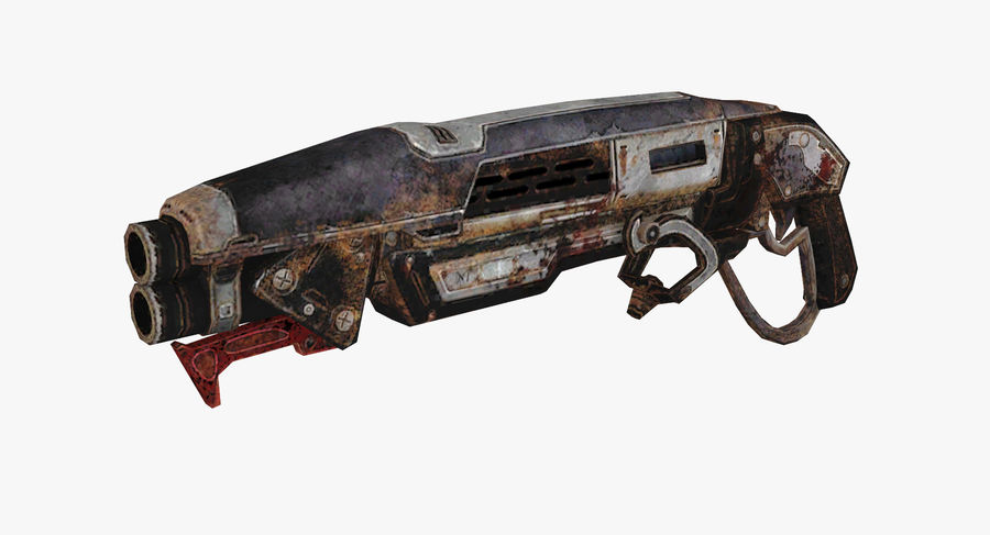 Sci-fi weapon type 9 royalty-free 3d model - Preview no. 2