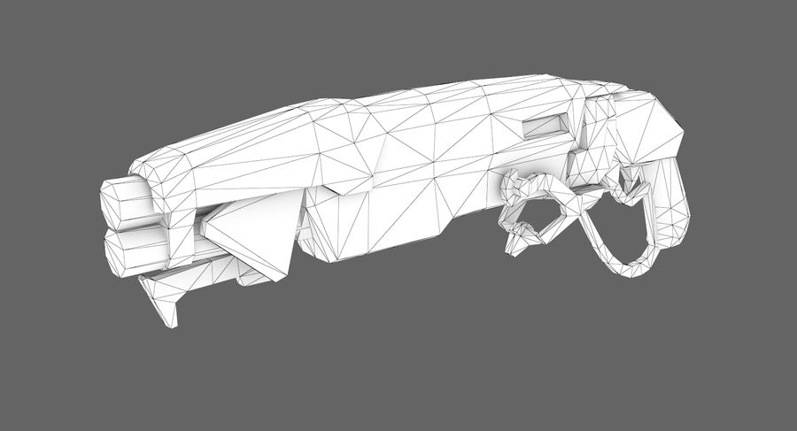 Sci-fi weapon type 9 royalty-free 3d model - Preview no. 7