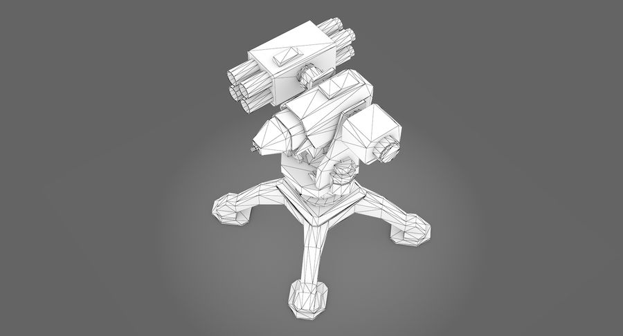 Sci-fi weapon type 10 royalty-free 3d model - Preview no. 10