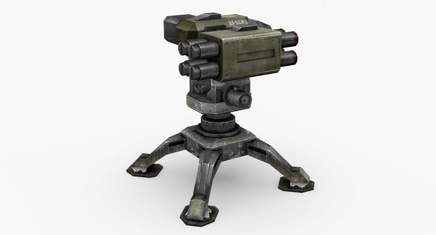 Sci-fi weapon type 10 royalty-free 3d model - Preview no. 4