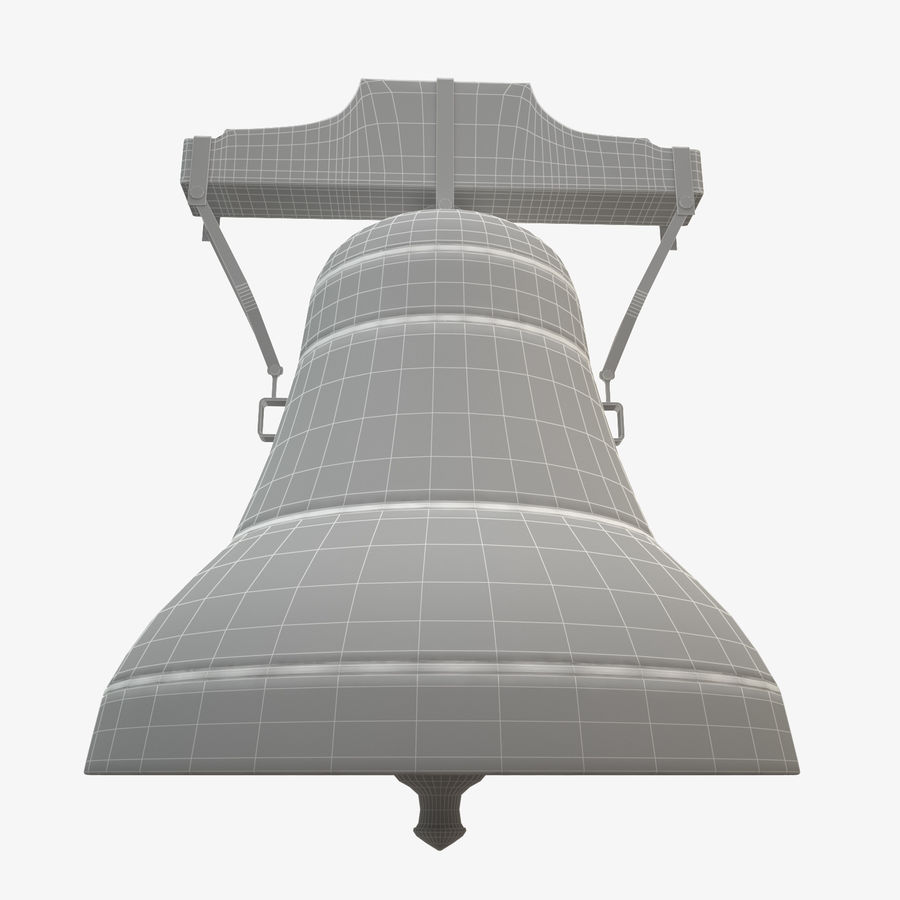 Church Bell royalty-free 3d model - Preview no. 7