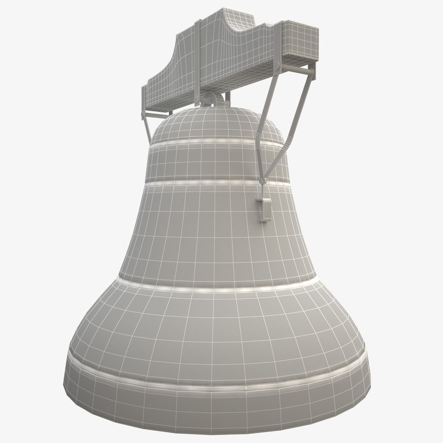Church Bell royalty-free 3d model - Preview no. 6