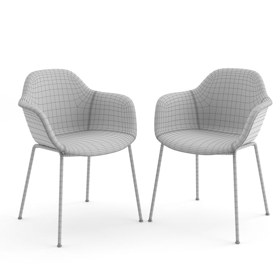 Arena Chairs by ICONS OF DENMARK royalty-free 3d model - Preview no. 6