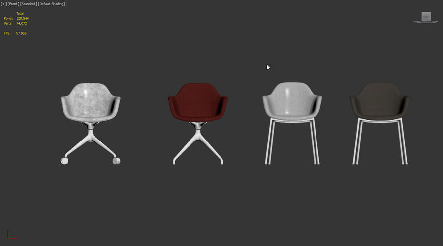 Arena Chairs by ICONS OF DENMARK royalty-free 3d model - Preview no. 9