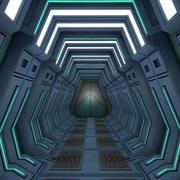 Sci-Fi-Korridor 3d model