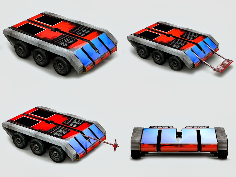 The Smasher Fighting Robot royalty-free 3d model - Preview no. 7