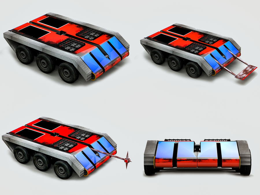 The Smasher Fighting Robot royalty-free 3d model - Preview no. 14
