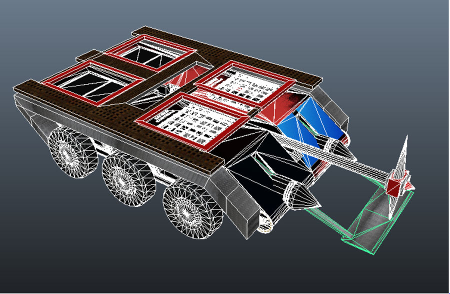 The Smasher Fighting Robot royalty-free 3d model - Preview no. 15