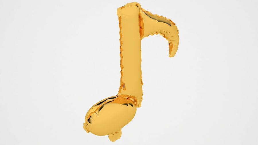 Balon foliowy Note 2 Gold royalty-free 3d model - Preview no. 11