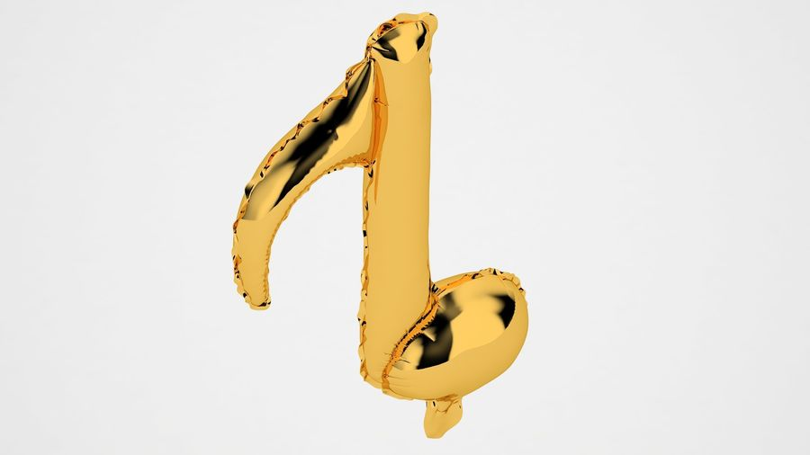 Balon foliowy Note 2 Gold royalty-free 3d model - Preview no. 7